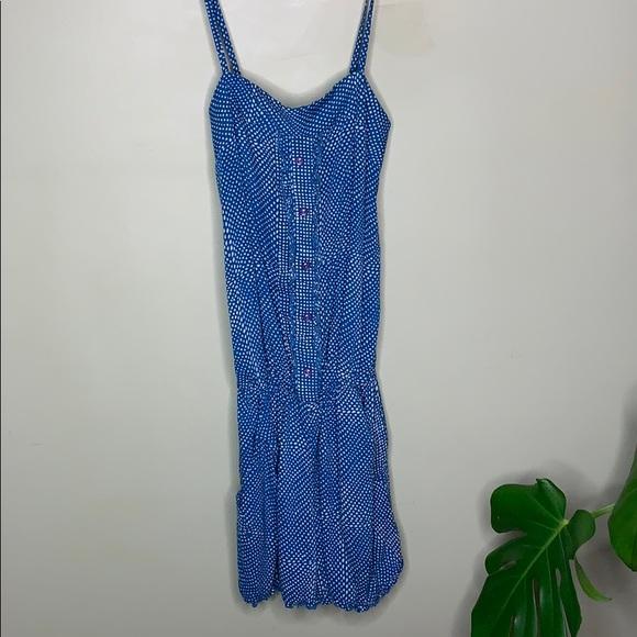3/$25 blue polka dot romper play suit